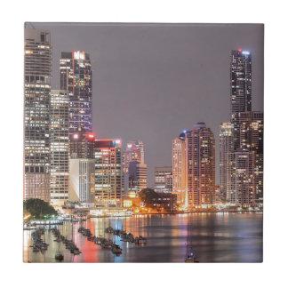Brisbane Night Skyline Tile