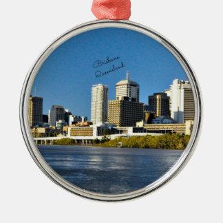 Brisbane, Queensland cityscape Metal Ornament