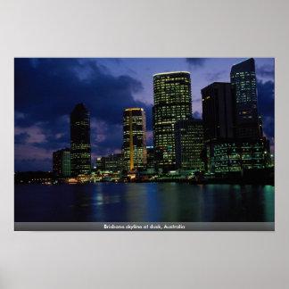 Brisbane skyline at dusk, Australia Posters