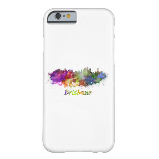 Brisbane skyline in watercolor barely there iPhone 6 case