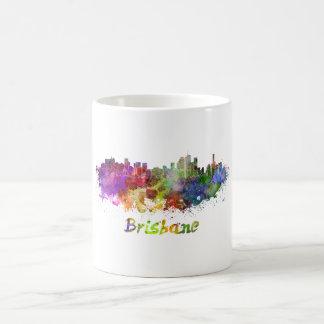 Brisbane skyline in watercolor coffee mug