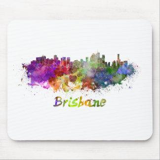 Brisbane skyline in watercolor splatters tapetes de raton