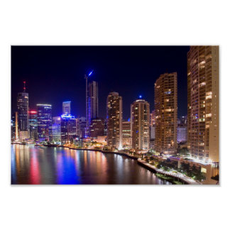 Brisbane Skyline Mini Poster