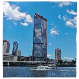 Brisbane Skyline Napkin