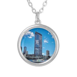 Brisbane Skyline Silver Plated Necklace