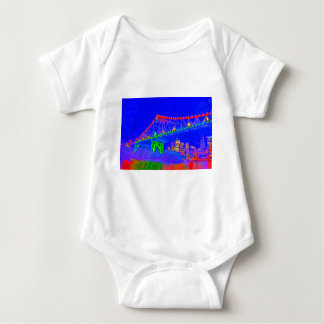 BRISBANE STOREY BRIDGE AUSTRALIA ART EFFECTS BABY BODYSUIT