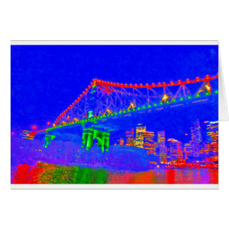 BRISBANE STOREY BRIDGE AUSTRALIA ART EFFECTS CARD