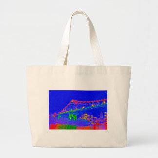 BRISBANE STOREY BRIDGE AUSTRALIA ART EFFECTS LARGE TOTE BAG