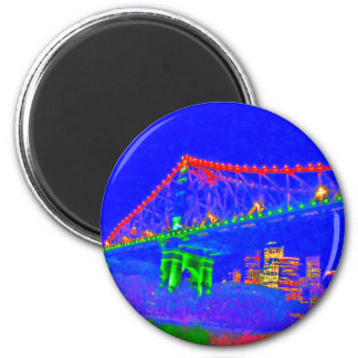 BRISBANE STOREY BRIDGE AUSTRALIA ART EFFECTS MAGNET