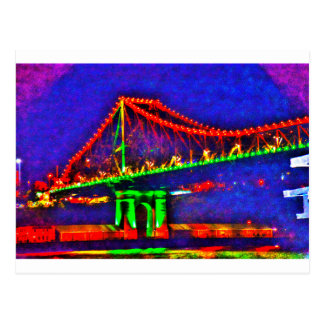 BRISBANE STOREY BRIDGE AUSTRALIA ART EFFECTS POSTCARD