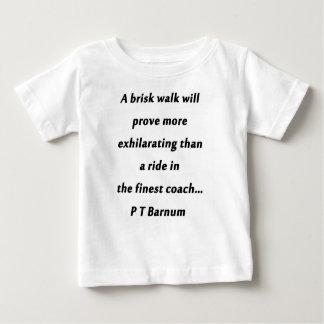 Brisk Walk - P T Barnum Baby T-Shirt
