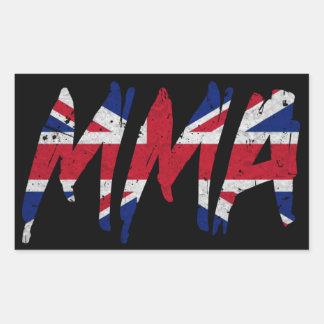 Bristish Flag MMA Sticker