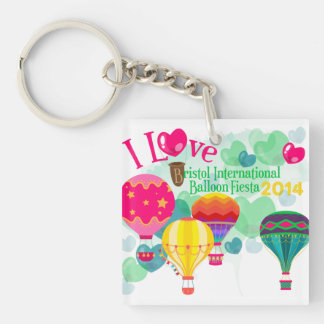 Bristol Balloon Fiesta Keyring Double-Sided Square Acrylic Keychain