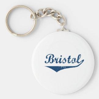 Bristol Basic Round Button Keychain