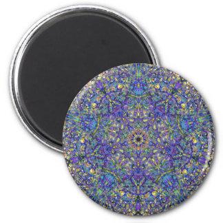 Bristol Blue Glass Pattern 2 Inch Round Magnet