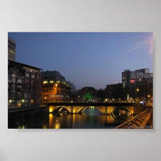 Bristol Bridge At Night Poster