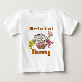 Bristol Cat Mom Baby T-Shirt