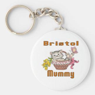 Bristol Cat Mom Basic Round Button Keychain