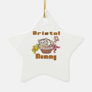 Bristol Cat Mom Ceramic Ornament