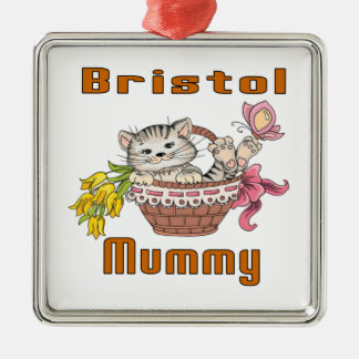 Bristol Cat Mom Metal Ornament