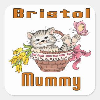 Bristol Cat Mom Square Sticker