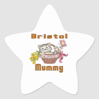 Bristol Cat Mom Star Sticker