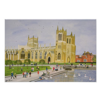 Bristol Cathedral and College Green 1989 Poster