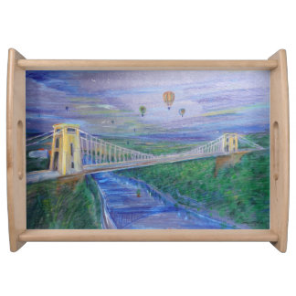 Bristol - Clifton Bridge - Hot AIr Balloons Serving Tray
