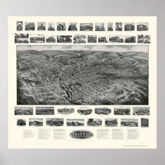 Bristol, CT Panoramic Map - 1907 Poster