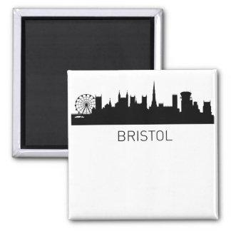 Bristol England Cityscape Square Magnet
