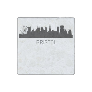 Bristol England Cityscape Stone Magnets