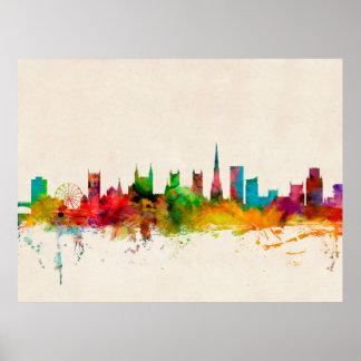 Bristol England Skyline Print