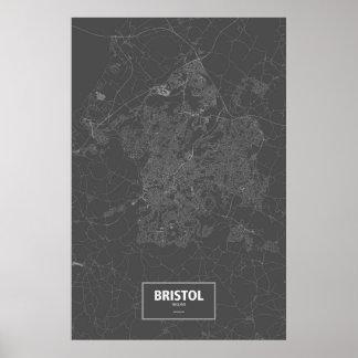 Bristol, England (white on black) Print