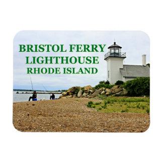 Bristol Ferry Lighthouse, Rhode Island Rectangular Photo Magnet
