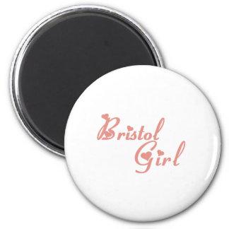 Bristol Girl tee shirts 2 Inch Round Magnet