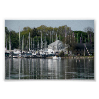 Bristol Harbor Bristol Rhode Island Poster