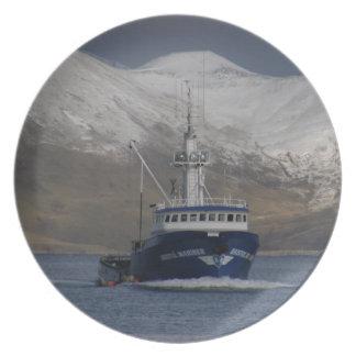 Bristol Mariner, Crab Fishing Boat in Dutch Harbor Plate
