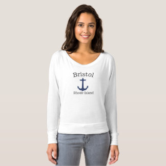 Bristol Rhode Island sea anchor shirt for women