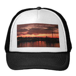 Bristol Rhode Island sunset Trucker Hat
