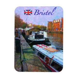 Bristol Riverfront Rectangular Photo Magnet