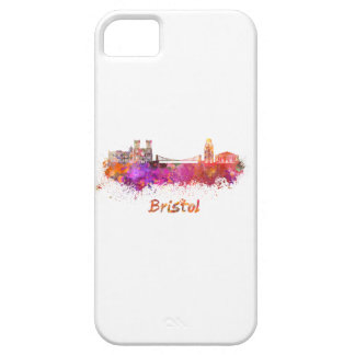 Bristol skyline in watercolor case for the iPhone 5