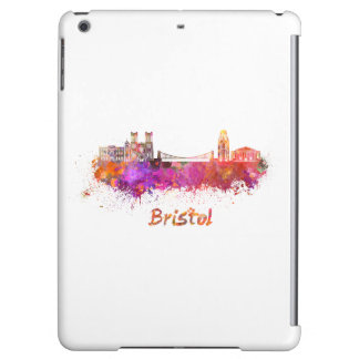 Bristol skyline in watercolor cover for iPad air