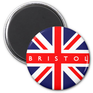 Bristol UK Flag 2 Inch Round Magnet