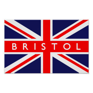 Bristol UK Flag Poster