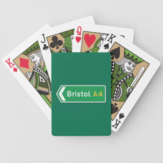 Bristol, UK Road Sign Bicycle Playing Cards