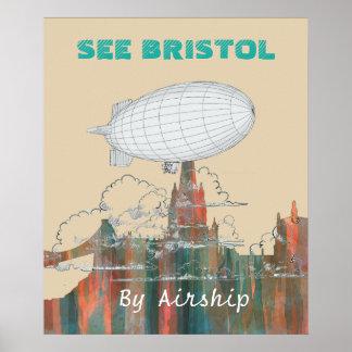 BRISTOL, UK SKYLINE POSTER