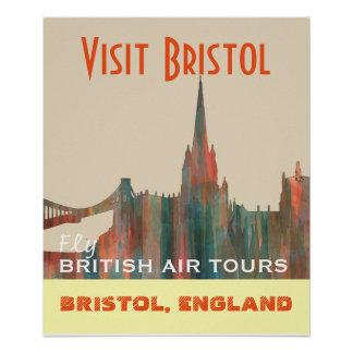 BRISTOL, UK SKYLINE - POSTER