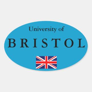 Bristol University European Oval Sticker