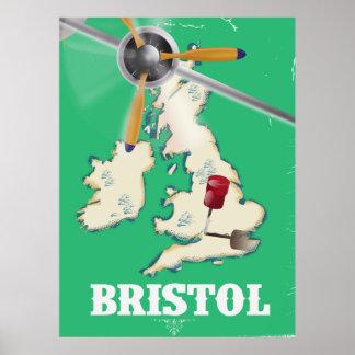 Bristol Vintage Travel poster