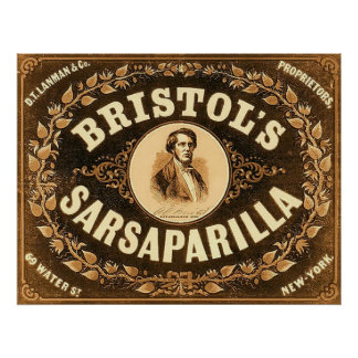 Bristol's Sarsaparilla ~ 1857. Poster